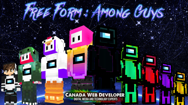Free Form  Among Guys on the Minecraft Marketplace by Canada Web Developer