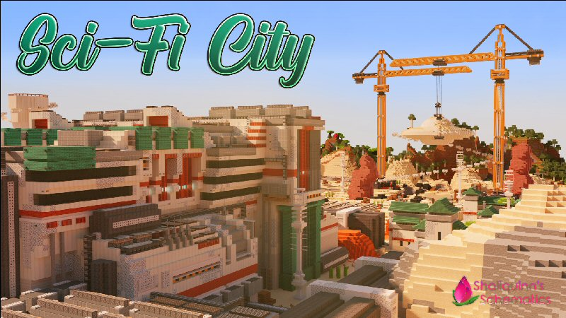 SciFi City on the Minecraft Marketplace by Shaliquinn's Schematics