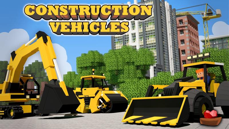 Construction Vehicles on the Minecraft Marketplace by Lifeboat