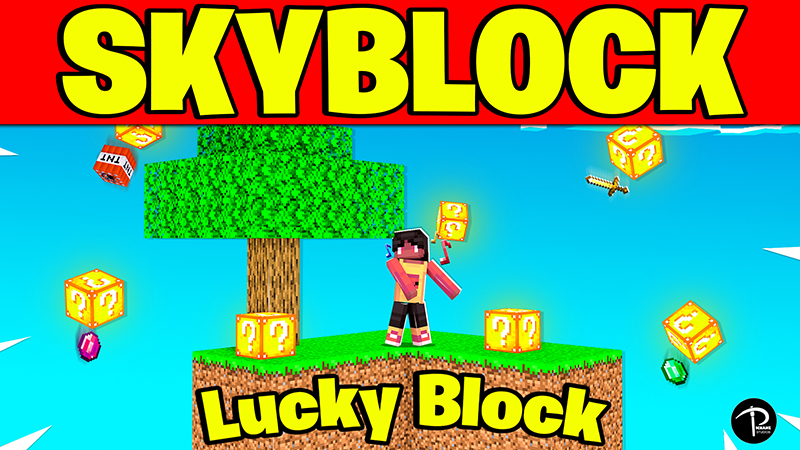 SKYBLOCK LUCKY BLOCK on the Minecraft Marketplace by Pickaxe Studios