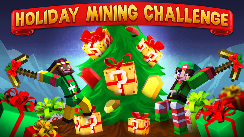 Holiday Mining Challenge on the Minecraft Marketplace by House of How