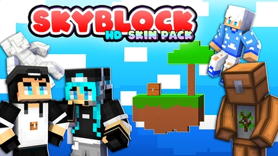 SkyBlock HD Skin Pack on the Minecraft Marketplace by The Lucky Petals