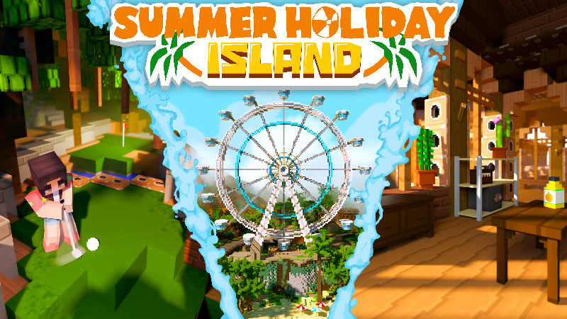Summer Holiday Island on the Minecraft Marketplace by Podcrash