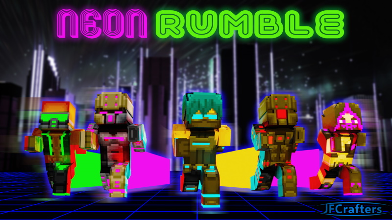 Neon Rumble on the Minecraft Marketplace by JFCrafters