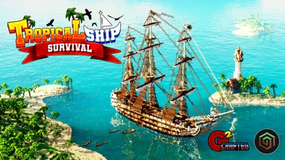 Tropical Ship Survival on the Minecraft Marketplace by G2Crafted