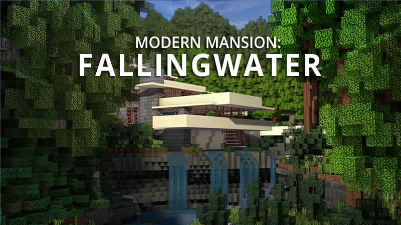 Modern Mansion Fallingwater on the Minecraft Marketplace by Shapescape