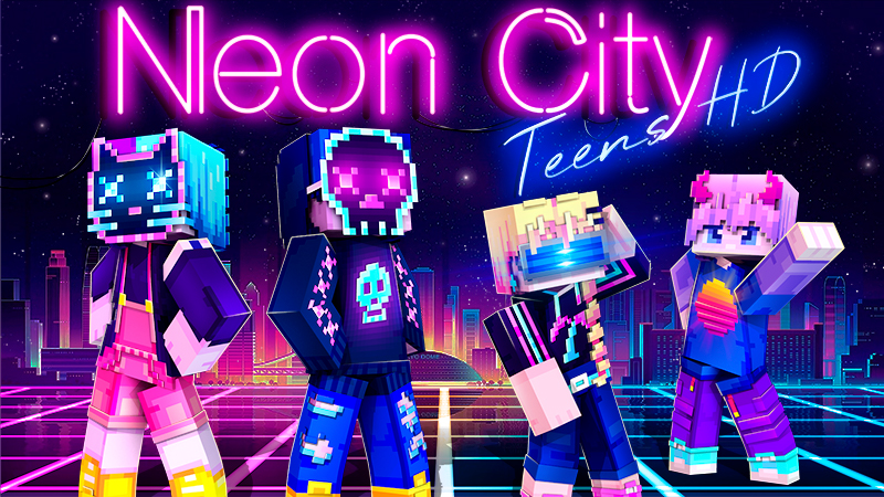 Neon City Teens HD on the Minecraft Marketplace by Ninja Squirrel Gaming
