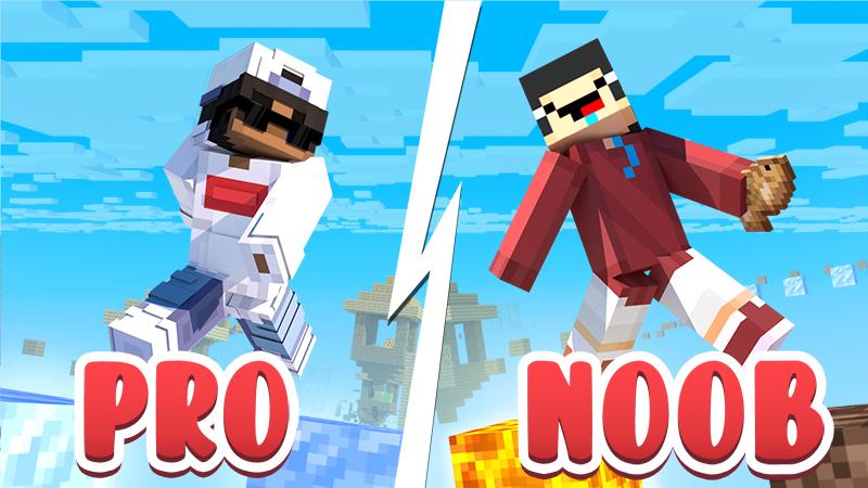 Noob vs Pro Parkour on the Minecraft Marketplace by 4KS Studios