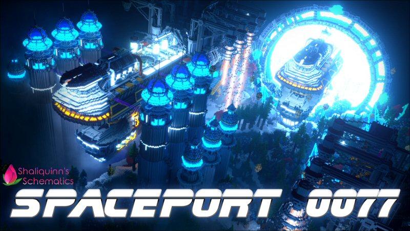 Spaceport 0077 on the Minecraft Marketplace by Shaliquinn's Schematics