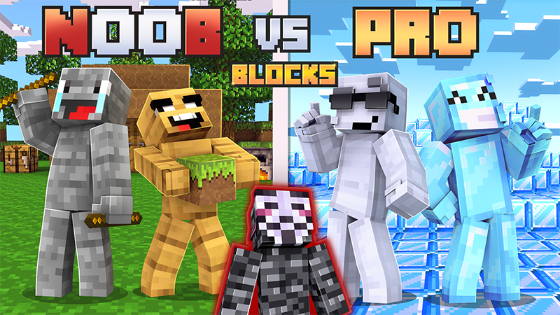 Noob VS Pro Blocks on the Minecraft Marketplace by Norvale