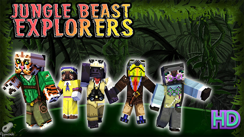 Jungle Beast Explorers HD on the Minecraft Marketplace by Appacado