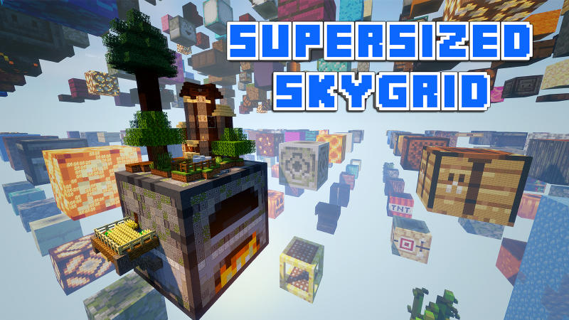 Supersized Skygrid on the Minecraft Marketplace by BLOCKLAB Studios