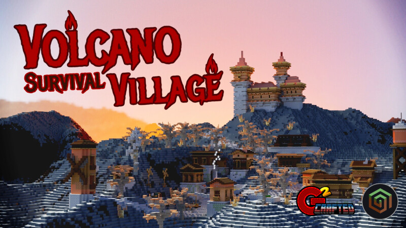 Volcano Survival Village on the Minecraft Marketplace by G2Crafted