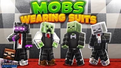 Mobs Wearing Suits on the Minecraft Marketplace by Tomhmagic Creations
