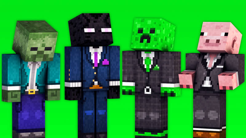 Suited Mobs on the Minecraft Marketplace by 57Digital