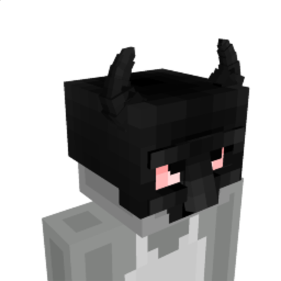 Black Dragon Mask on the Minecraft Marketplace by The Rage Craft Room