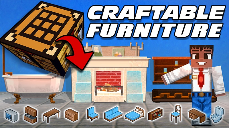 Craftable Furniture on the Minecraft Marketplace by Lifeboat