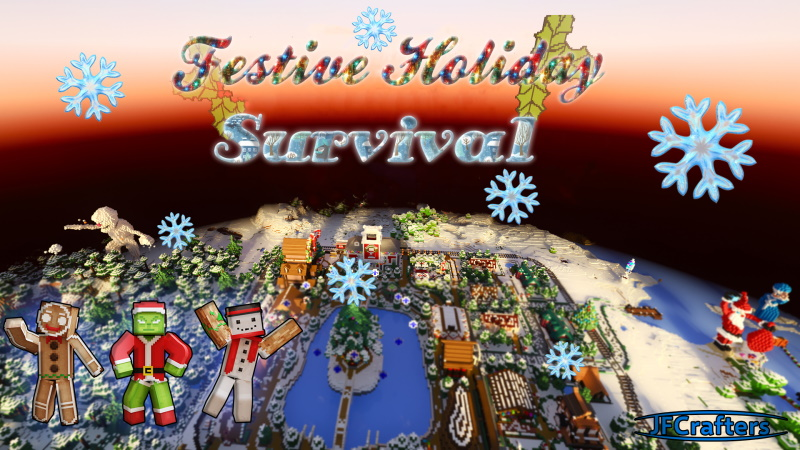 Festive Holiday Survival on the Minecraft Marketplace by JFCrafters