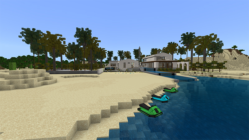 Millionaire Beach Mansion on the Minecraft Marketplace by 4KS Studios