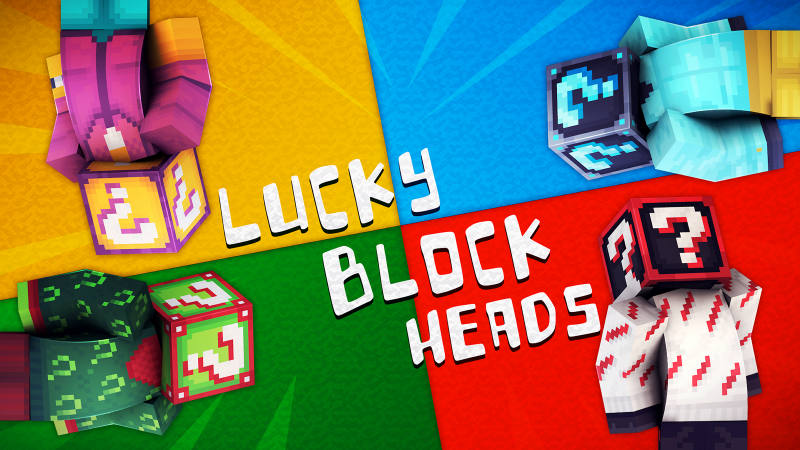 Lucky Block Heads on the Minecraft Marketplace by 57Digital
