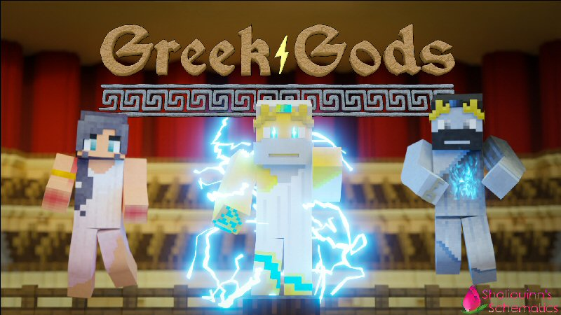 Greek Gods on the Minecraft Marketplace by Shaliquinn's Schematics