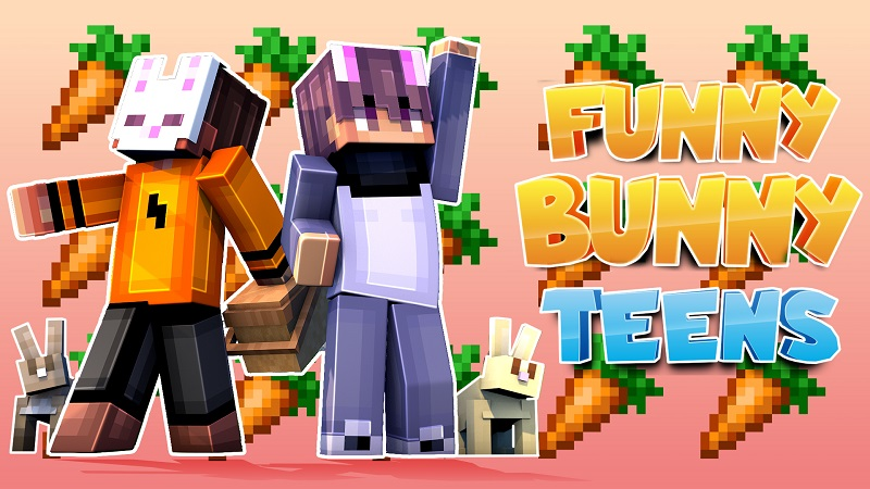 Funny Bunny Teens on the Minecraft Marketplace by 4KS Studios