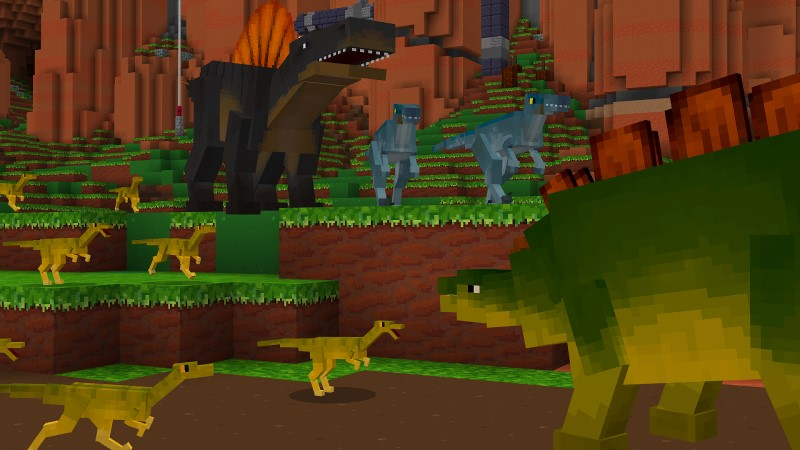 Dinosaur Battle by Shapescape