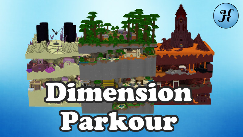Dimension Parkour on the Minecraft Marketplace by Hielke Maps
