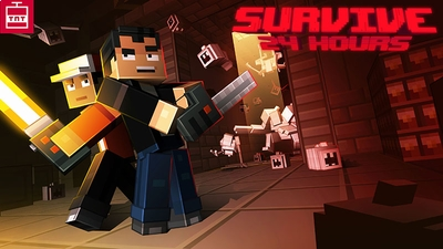 Survive 24 Hours on the Minecraft Marketplace by TNTgames