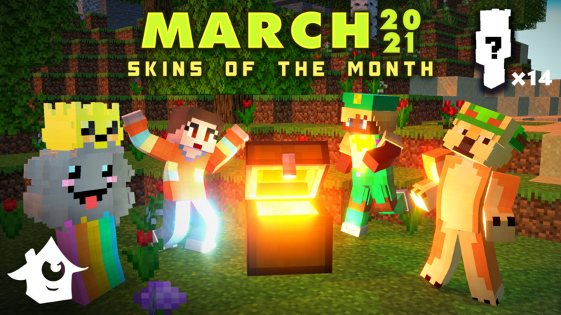 Skins of the Month  March on the Minecraft Marketplace by House of How