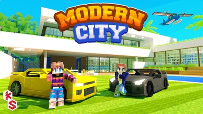 Modern City on the Minecraft Marketplace by Kreatik Studios