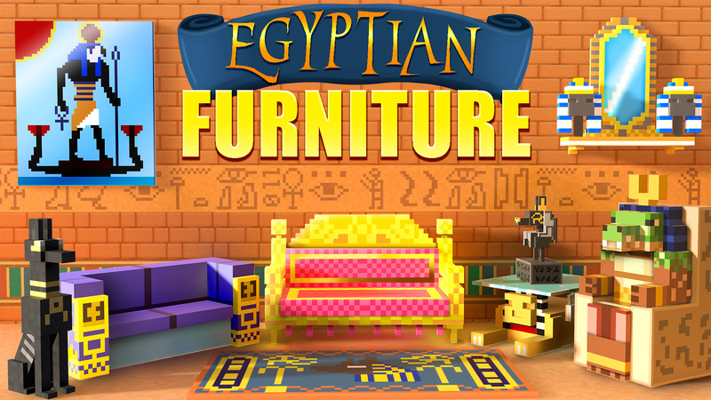 Egyptian Furniture on the Minecraft Marketplace by House of How