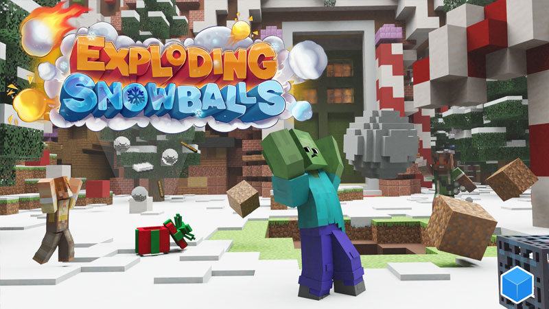 Exploding Snowballs on the Minecraft Marketplace by CubeCraft Games