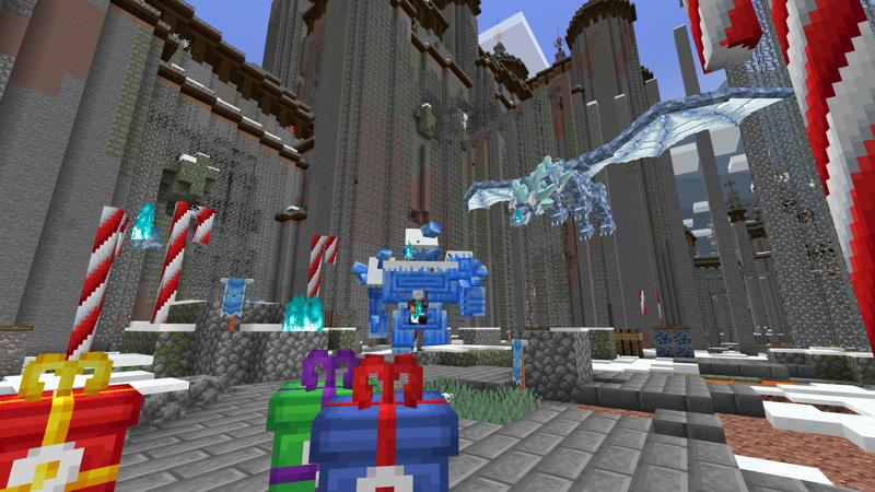 Lucky Blocks: Winter on the Minecraft Marketplace by Block Factory