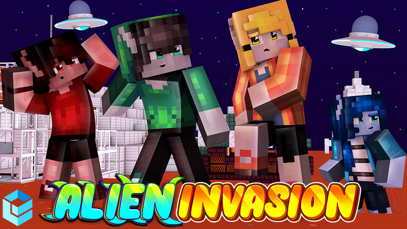 Alien Invasion on the Minecraft Marketplace by Entity Builds