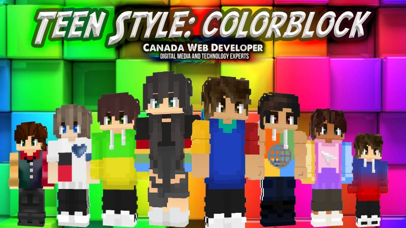 Teen Style Colorblock on the Minecraft Marketplace by Canada Web Developer