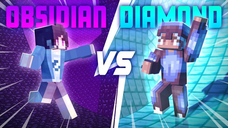 Obsidian VS Diamond on the Minecraft Marketplace by Cubed Creations