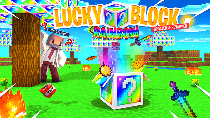 Lucky Block Rainbow on the Minecraft Marketplace by Kubo Studios