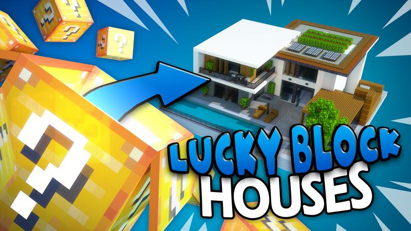 Lucky Block Houses on the Minecraft Marketplace by Cubed Creations
