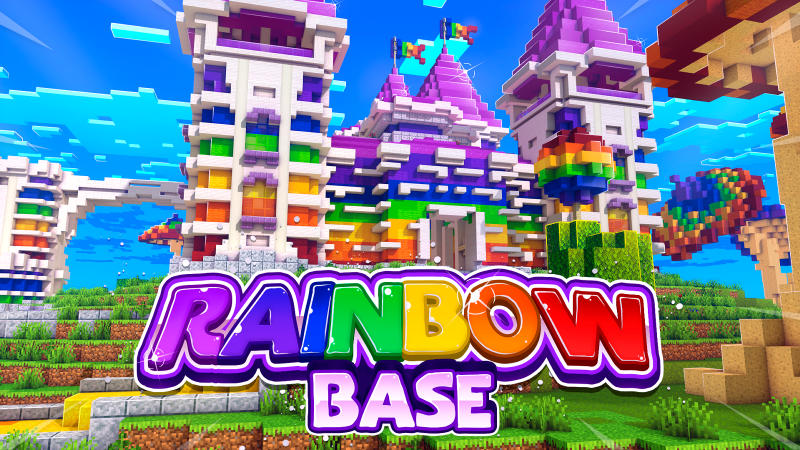 Rainbow Base on the Minecraft Marketplace by BLOCKLAB Studios