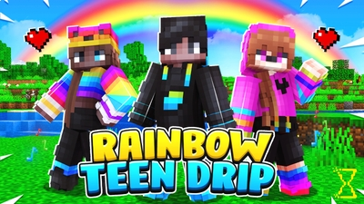 Rainbow Teen Drip on the Minecraft Marketplace by Hourglass Studios