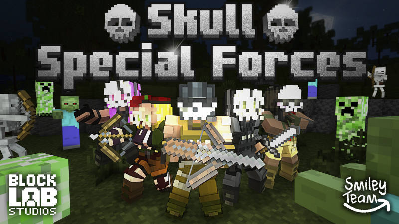 Skull Special Forces on the Minecraft Marketplace by BLOCKLAB Studios