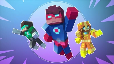 Superheroes on the Minecraft Marketplace by Cubed Creations