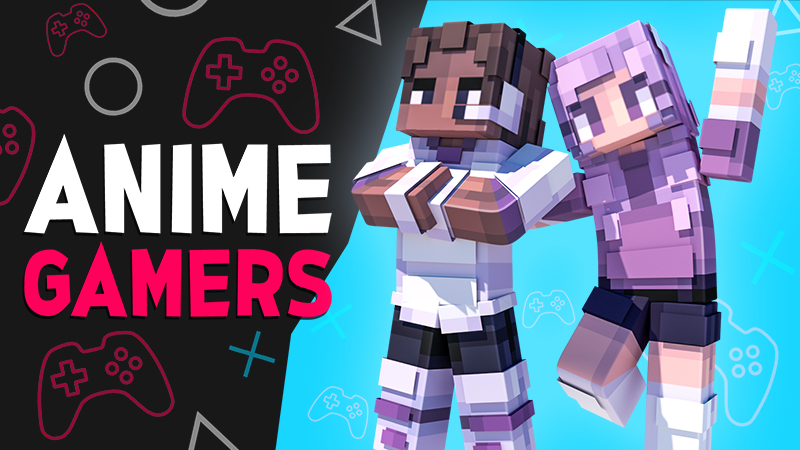 Anime Gamers on the Minecraft Marketplace by 4KS Studios