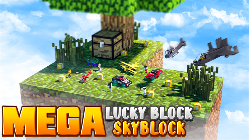 Mega Lucky Block Skyblock on the Minecraft Marketplace by 4KS Studios