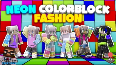 Neon Colorblock Fashion on the Minecraft Marketplace by Tomhmagic Creations