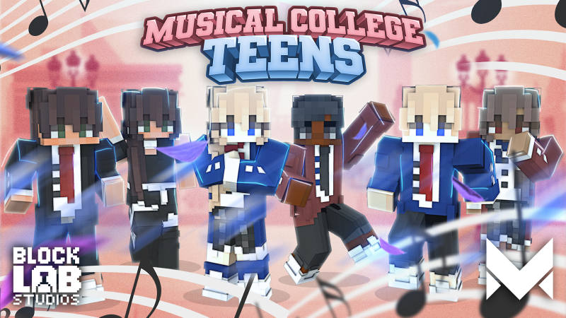 Musical College Teens on the Minecraft Marketplace by BLOCKLAB Studios