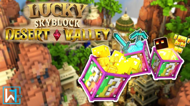 Lucky Skyblock Desert Valley