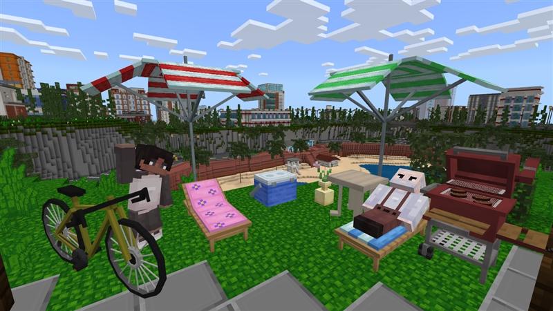 City Furniture In Minecraft Marketplace, Garden City Furniture