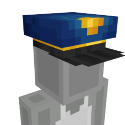Police cap on the Minecraft Marketplace by HorizonBlocks